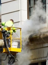 rénovation de façade: le nettoyage à vapeur