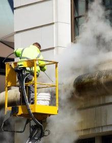 nettoyage à la vapeur façade
