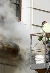 Nettoyage de la façade à vapeur