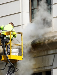 travaux de façade: nettoyage à vapeur