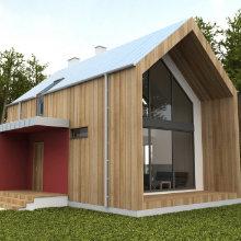 Finition de la façade en bois